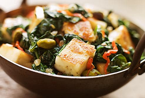 Paneer and spinach