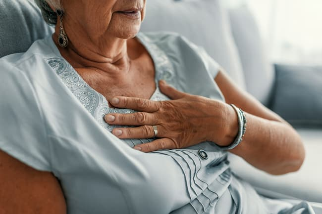 photo of woman with heartburn