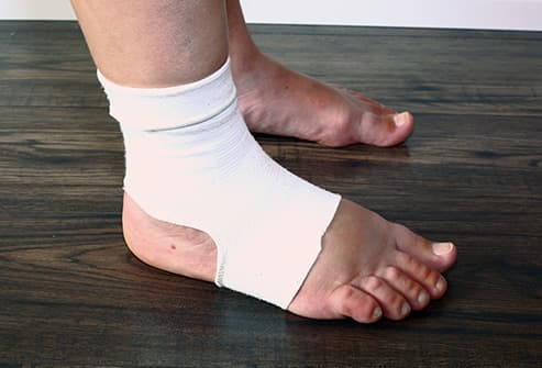 foot in compression sock
