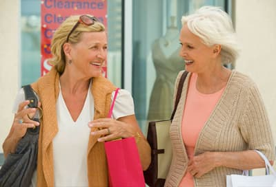 Women Shopping and Laughing