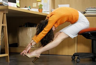 Woman Stretching Joints at Work