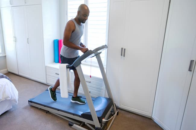 man on treadmill