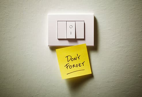 note on light switch