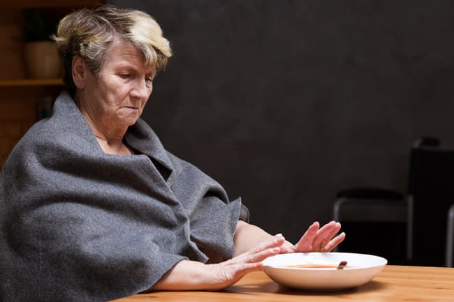 photo of woman with low appetite