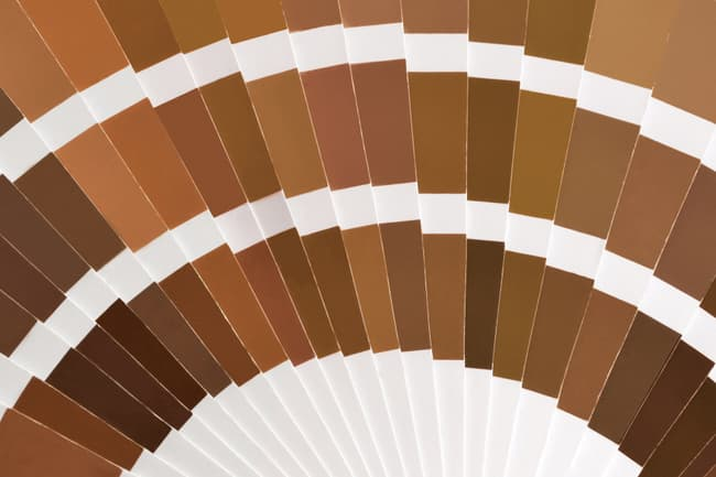 photo of brown color swatches