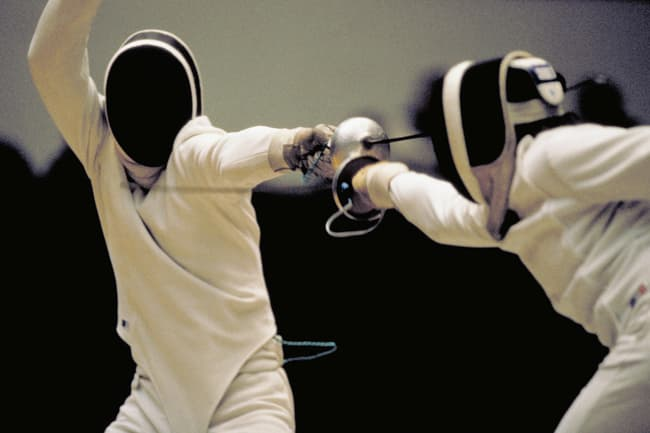 photo of fencing competition
