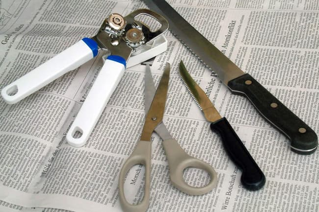 photo of left-handed tools