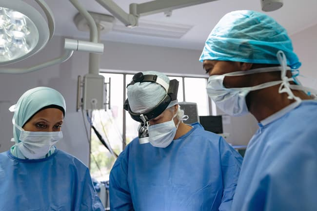 photo of surgical team
