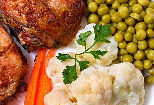 Chicken peas and cauliflower