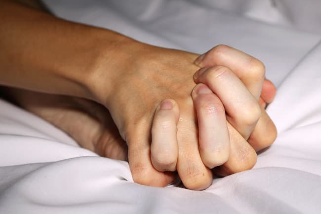 photo of hands clasped