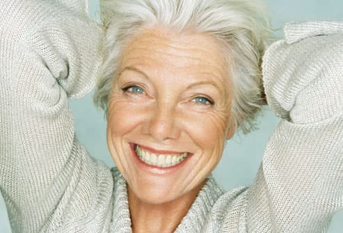 Smiling Gray Haired Woman