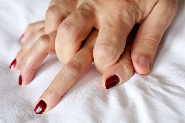 photo of couples hands