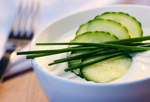 Cucumbers yogurt