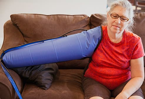 woman having lymphedema treatment