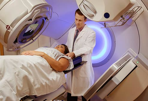 woman having radiation treatment