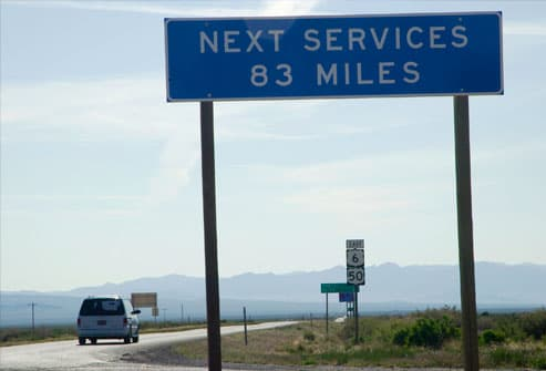 Long way to next stop, Nevada-Utah border