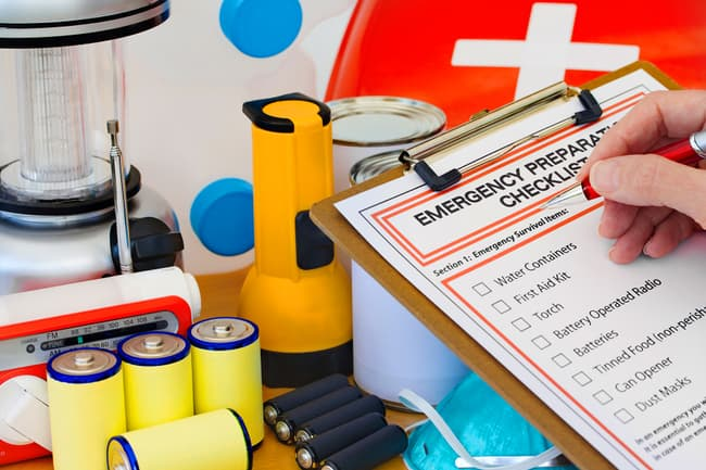 photo of emergency prep kit