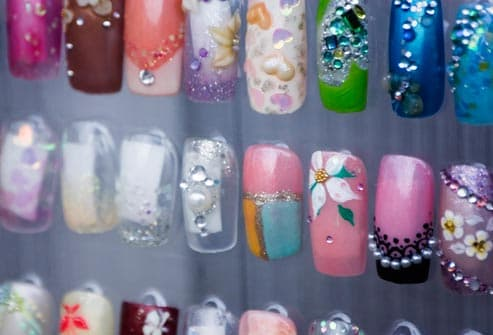assortment of nail art