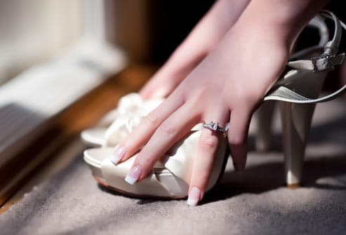 woman with french manicure
