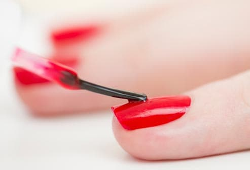how to put on fake nails with clear nail polish