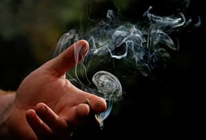marijuana cigarette smoke