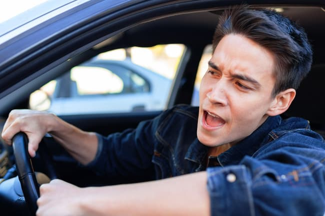 photo of man with road rage
