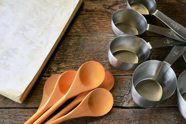 photo of measuring cups and spoons