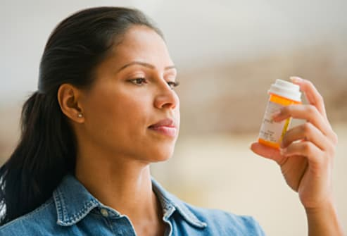 woman with meds