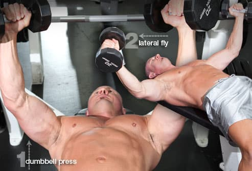 Compound set of chest exercises