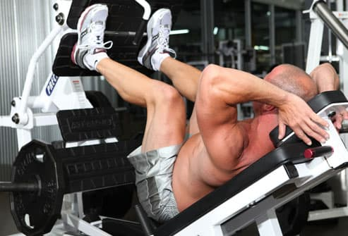 Correct position on leg press