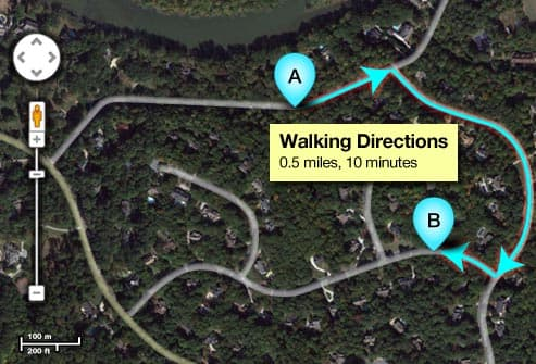 digital walking map
