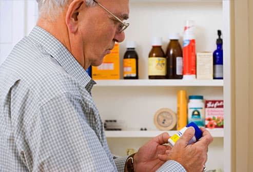 Man taking over the counter medication