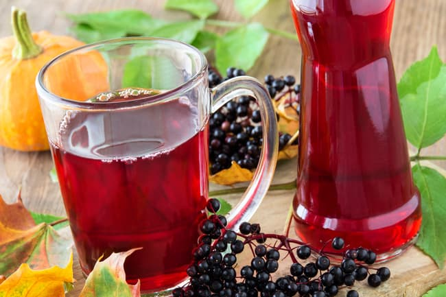 photo of elderberry juice