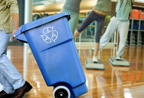 Recycle Bin in Gym Composite