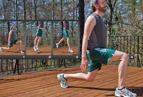 Sequence Of Jump Lunge
