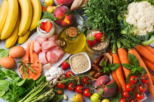 photo of healthy variety of foods