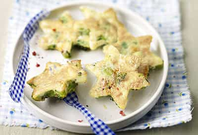 broccoli and cheese egg white omelet