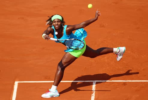 Serena Williams Playing Tennis