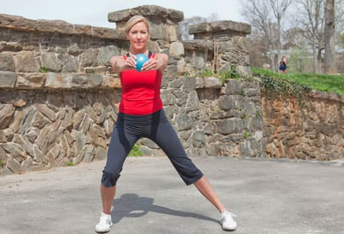 Woman Doing Side Lunge