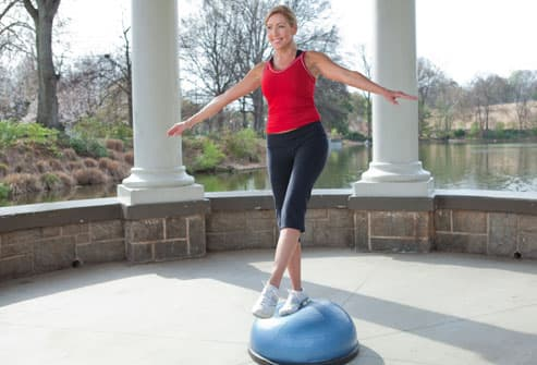 Woman Using BOSU Ball