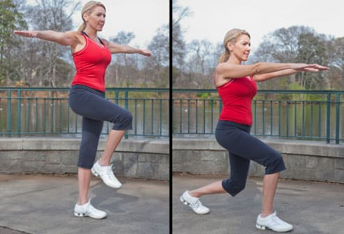Woman Doing Lunge Exercise