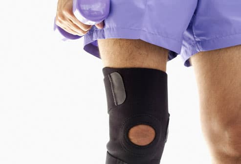 Man With Knee Brace