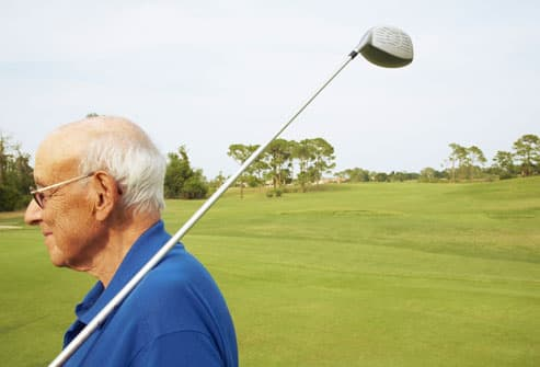 Older Man On Golf Course