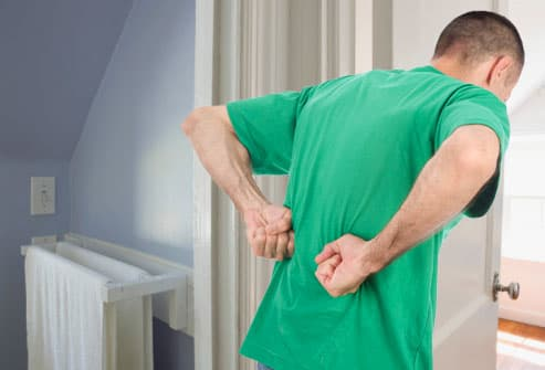 Man with kidney pain