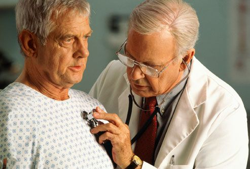 Man having heart checked