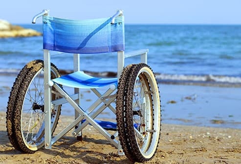 special beach wheelchair