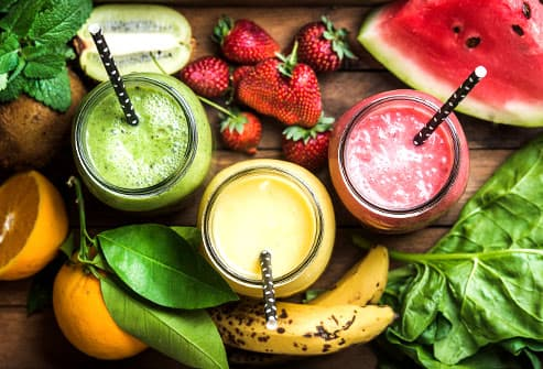 fruit veggie smoothies