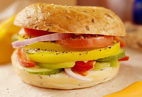 veggie loaded sandwich