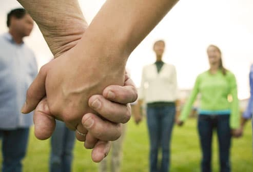 Group Holding Hands in a Circle