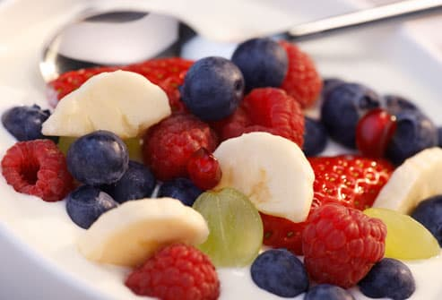 Yogurt and fresh fruit
